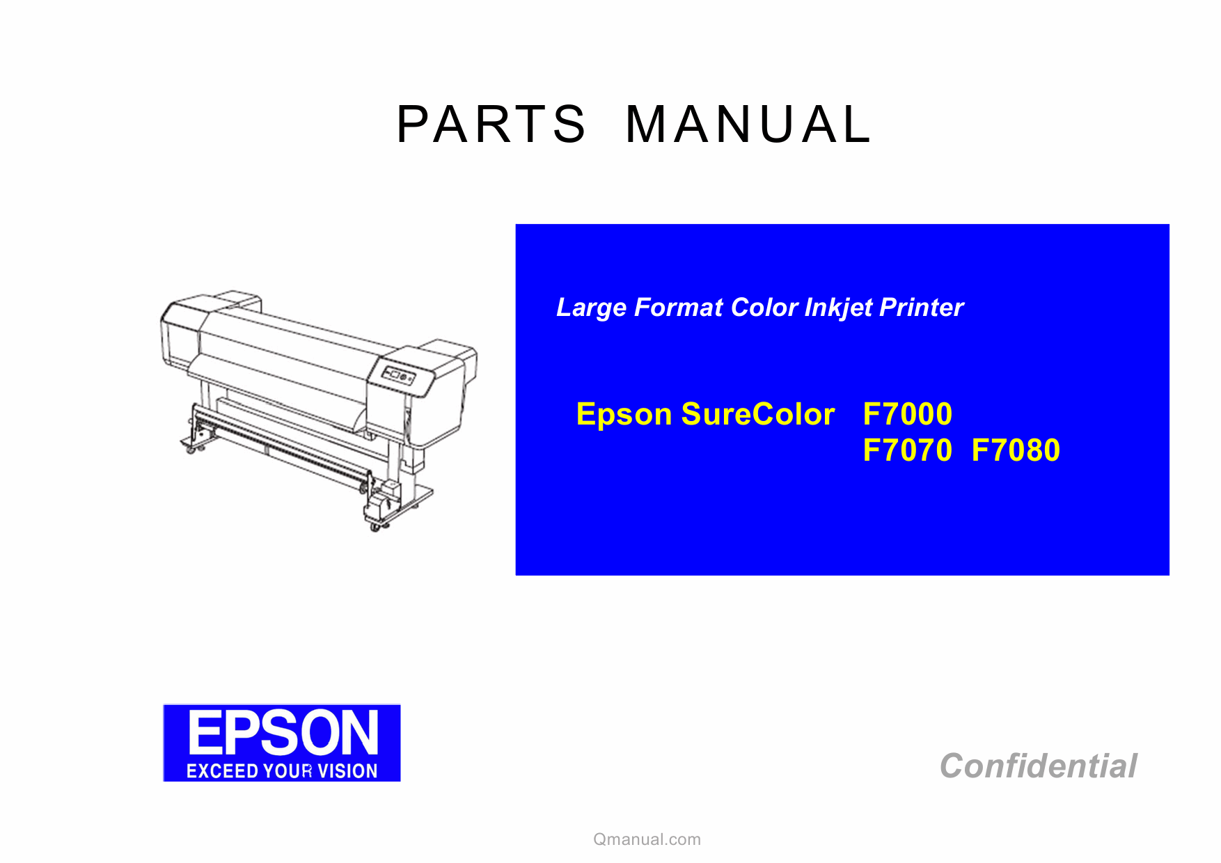 EPSON SureColor F7000 F7070 F7080 Parts Manual-1